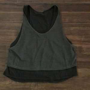 Racer back double layer crop